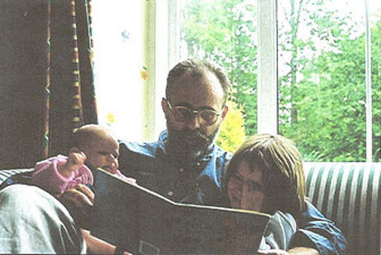 the poet reading to his children